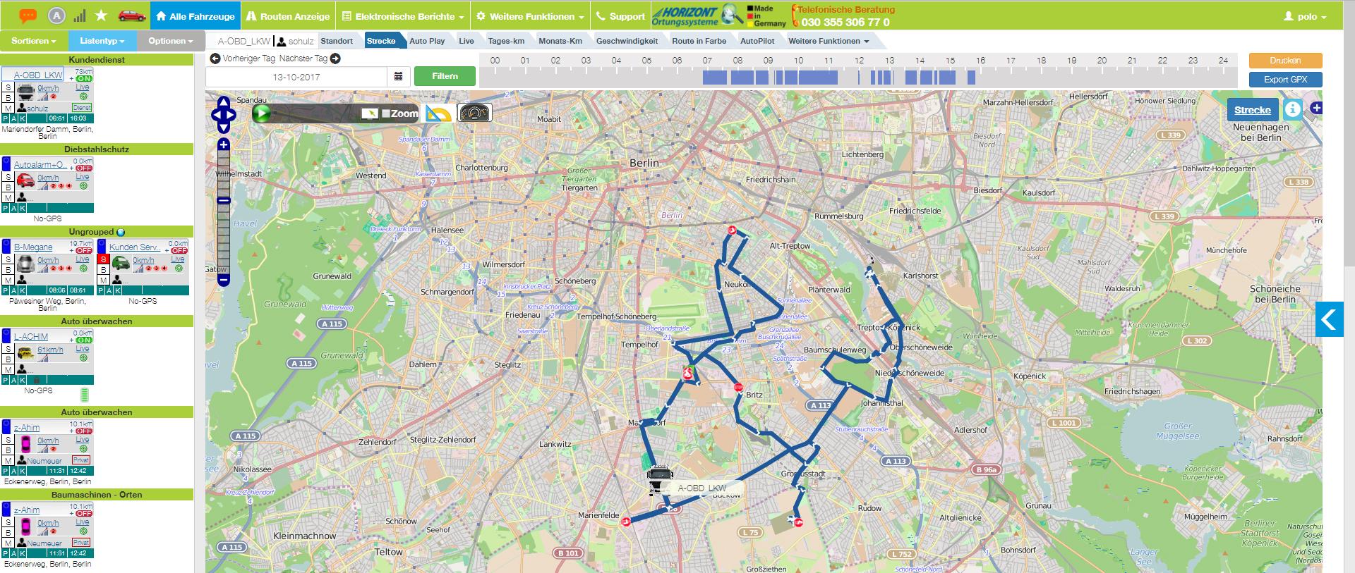 GPS-Fahrtenbuch, GPS, Fahrererkennung, automatischen Fahrererkennung, WasApp, Privatfahrt